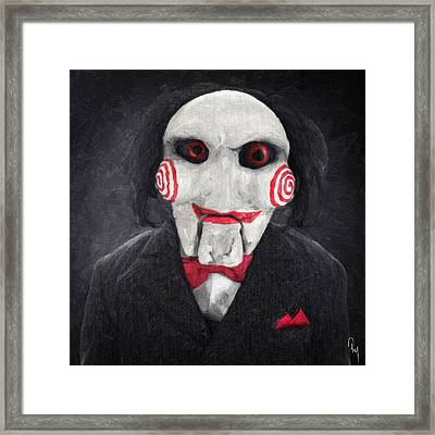 Billy The Puppet Framed Print by Taylan Apukovska