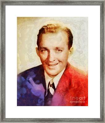 Bing Crosby, Vintage Hollywood Legend Framed Print