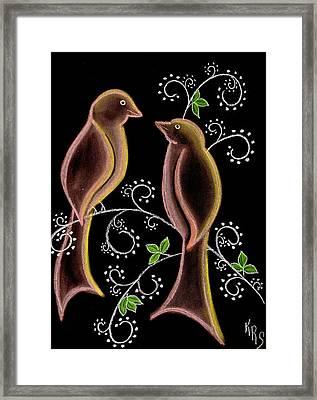 Bird Doodle Framed Print by Karen R Scoville