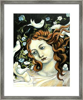 Bird Lady Framed Print