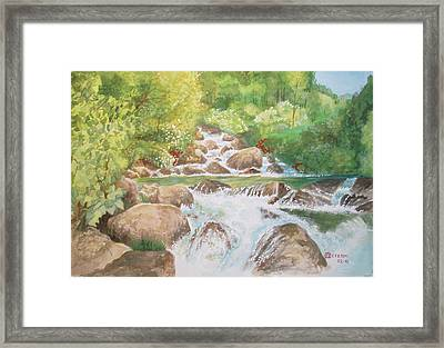 Bishop Creek South Fork Framed Print by Charles Hetenyi