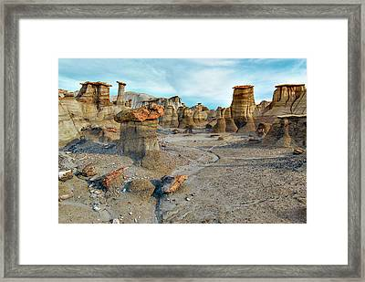 Framed Print featuring the photograph Bisti Wilderness Hoodoos by Alan Toepfer