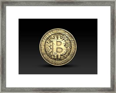 Bitcoin Physical Framed Print by Allan Swart