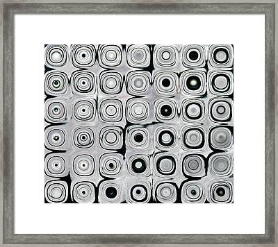 Black And White Circles I Framed Print by Patty Vicknair