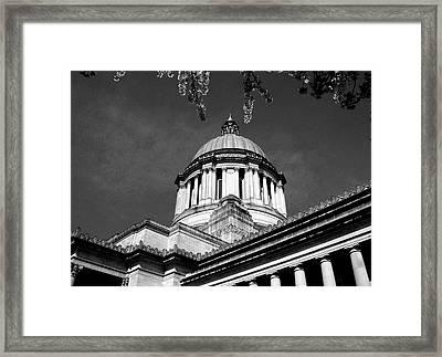 Black And White Framed Print by Kevin D Davis