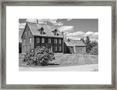 Black And White Photograph Of Olsen House Cushing Maine Framed Print by Keith Webber Jr