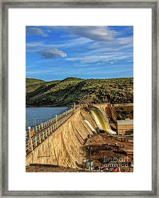 Framed Print featuring the photograph Black Canyon Dam by Robert Bales