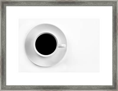 Black Coffee Framed Print by Gert Lavsen