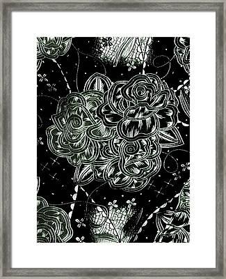 Black Flower Framed Print