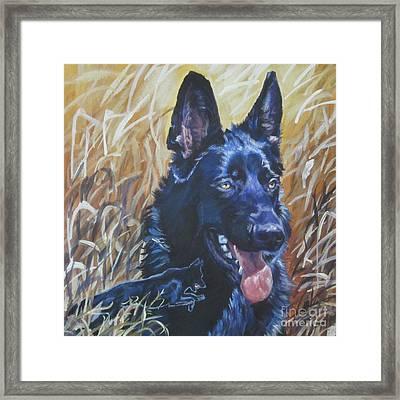 Black German Shepherd Framed Print by Lee Ann Shepard