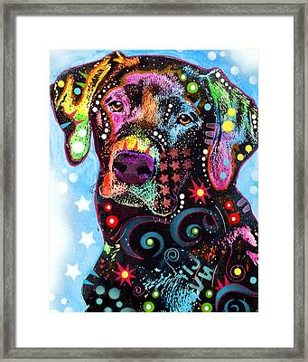 Black Lab Framed Print by Dean Russo