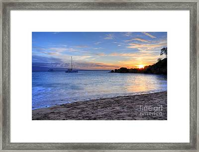 Black Rock Sunset Framed Print by Kelly Wade