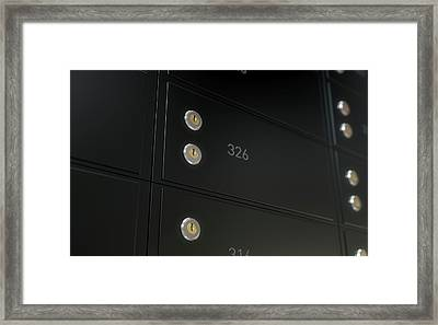 Black Safe Deposit Box Wall Framed Print