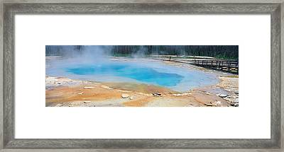 Black Sand Basin, Yellowstone National Framed Print by Panoramic Images
