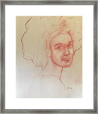 Black Woman 2 Framed Print by Alejandro Lopez-Tasso