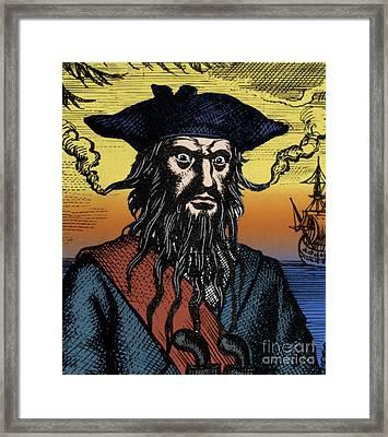 Blackbeard, Edward Teach, English Pirate Framed Print by Science Source