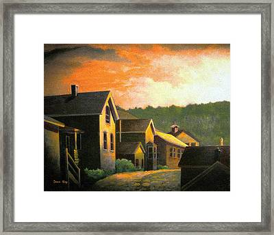 Blackhawk  Colorado Sunset Framed Print by Donn Kay