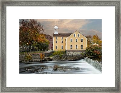 Blackstone River Mill Framed Print