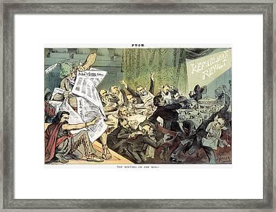 Blaine Cartoon, 1884 Framed Print by Granger