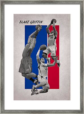 Blake Griffin Los Angeles Clippers Framed Print