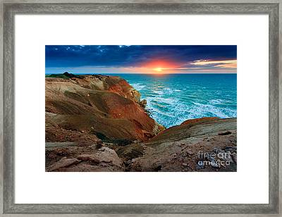 Blanche Point Sunset Framed Print