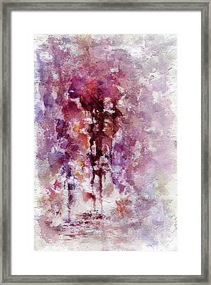Bleeding Heart Framed Print by Rachel Christine Nowicki