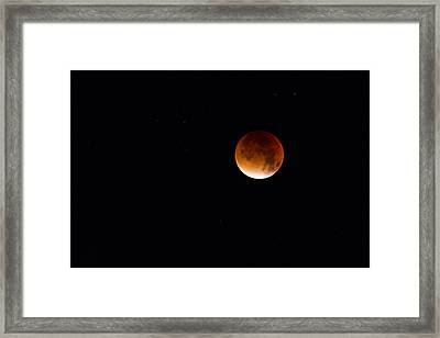 Blood Moon Super Moon 2015 Framed Print by Clare Bambers