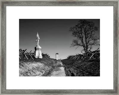 Bloody Lane - Antietam Framed Print