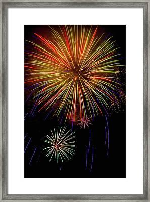 Blooming Fireworks Framed Print