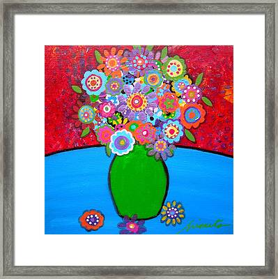 Blooms 3 Framed Print by Pristine Cartera Turkus