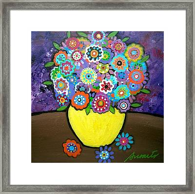 Blooms 6 Framed Print by Pristine Cartera Turkus