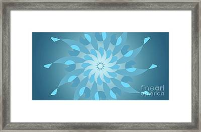 Blue Abstract Star For Home Decoration Framed Print by Pablo Franchi