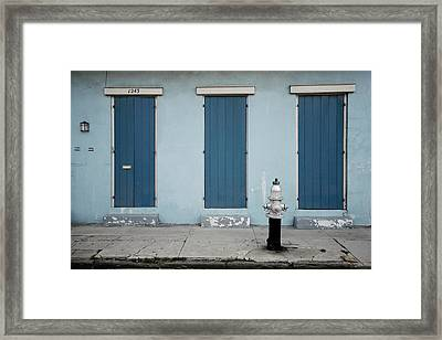Blue And Silver At 1243 Framed Print
