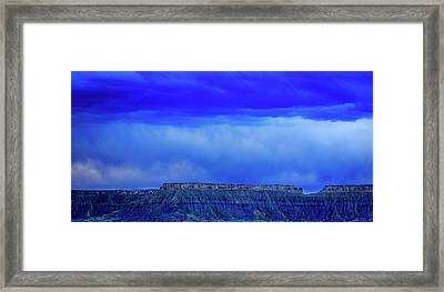 Blue Badlands Framed Print