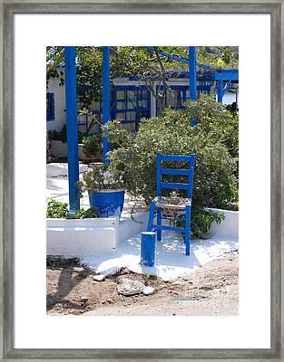 Blue Chair Framed Print by Andrea Simon