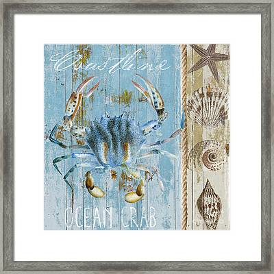Blue Claw Crab  Framed Print by Mindy Sommers