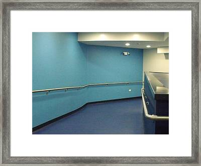 Blue Corridor Framed Print by Anna Villarreal Garbis