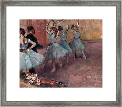 Blue Dancers Framed Print by Edgar Degas