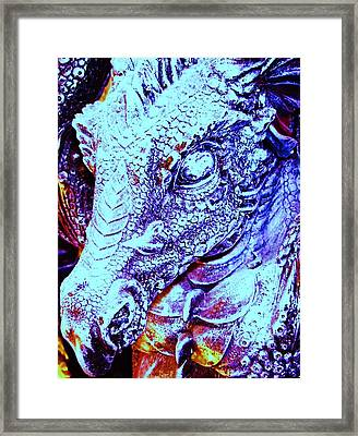 Blue-dragon Framed Print by Ramon Labusch