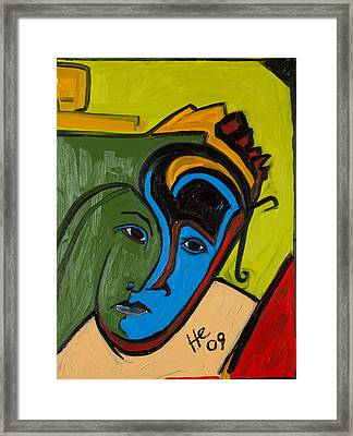 Blue Face 24x18 Framed Print