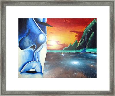 Blue Face Framed Print by Michael McKenzie