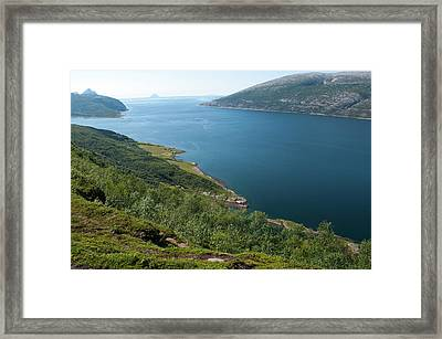 Blue Fjord Framed Print by Tamara Sushko