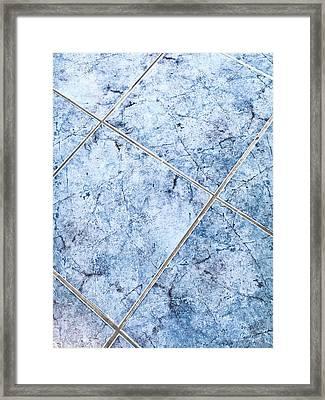 Blue Floor Tiles Framed Print