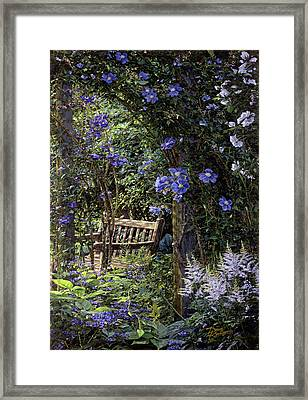 Blue Garden Respite Framed Print by Doug Kreuger