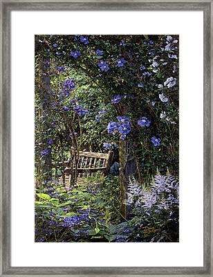 Blue Garden Respite Framed Print by Doug Kreuger