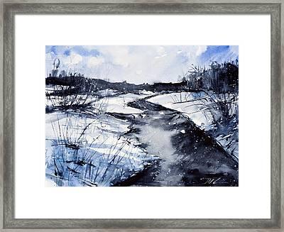 Blue Framed Print by Judith Levins
