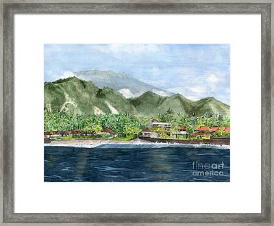 Framed Print featuring the painting Blue Lagoon Bali Indonesia by Melly Terpening