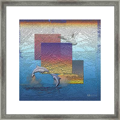 Blue Lagoon Sunrise  Framed Print