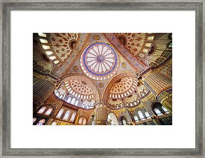 Blue Mosque Interior Framed Print by Artur Bogacki