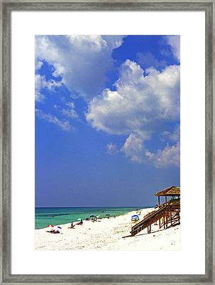 Blue Mountain Beach Framed Print by Thomas R Fletcher